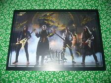 Autograph ATTIC - ALL BAND !!! - Big Postcard 15 x 21 cm HEAVY METAL RAR !!!