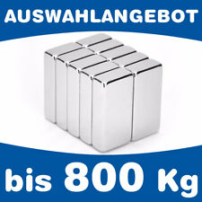 Neodym Quadermagnet Magnet-Quader - bis 800kg - AUSWAHL - starke Supermagnete