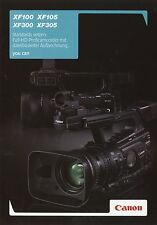 Prospekt 2010 Canon XF100 XF105 XF300 XF305 Broschüre Proficamcorder Camcorder
