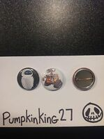 "Wall E And Eve 1"" Pin Button FANMADE Disney Pixar"