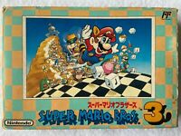 Super Mario Brothers 3 with Box and Manual Nintendo Famicom NES Japan video game