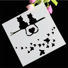 Cat Stencil for art craft spray cake and Home decor