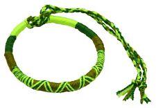 Bracelet Brésilien Amitié Macramé Coton Vœu porte Bonheur vert
