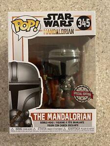 Funko Pop! Star Wars: THE MANDALORIAN - #345 (SPECIAL EDITION) Full Chrome Rare