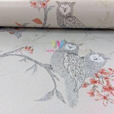 Holden Sleepy Owls Pattern Wallpaper Glitter Motif Birds Flower Tree Leaf 12119