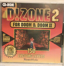 D!ZONE 2  FOR DOOM & DOOM II 150 Exciting Levels,  Game Computer PC CD-Rom  NEW