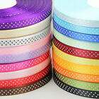 25 Yards  10mm Bulk Polka Dot Ribbon Satin Craft Supplies crafts ELS