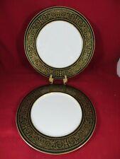 "Mikasa Mount Holyoke Bone China Set of 2 Dinner Plates  10 3/4""  EUC"