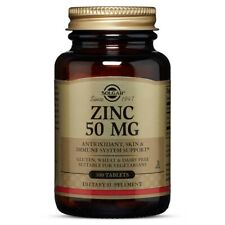 Solgar Zinc 50 mg, 100 Tablets FREE US SHIPPING MADE IN USA FRESH