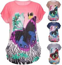Sequin Scoop Neck Floral Tops & Shirts for Women