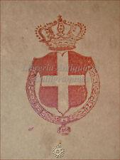 SAVOIA RISORGIMENTO: Croce Bianca in Campo Rosso DIVINA COMMEDIA 1892 Labaro
