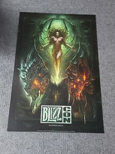 "BlizzCon 2010 Exclusive Key Art 27"" x 40"" Poster Diablo WarCraft StarCraft"
