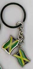 Jamaica Double Wavy Flag  Keychain