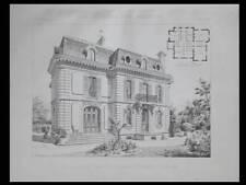 SAINT LEU LA FORET, VILLA - 1896 - PLANCHE ARCHITECTURE - FRANTZ JOURDAIN