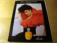 PUBBLICITA' ADVERTISING WERBUNG 1991 RUMBA PARFUM BALENCIAGA PARIS PROFUMO (G20)