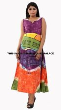 Mandala Maxi Dress in Hand Tie Dye Beach Gypsy Festival Gown Beach Wear Bohemian