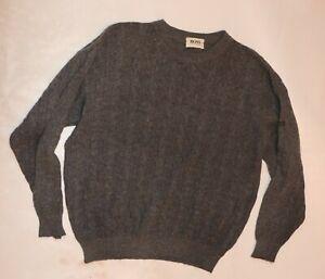 HUGO BOSS HERREN 60% wolle zopf Sweater  PULLOVER SWEAT Ca Gr. L Sweatshirt