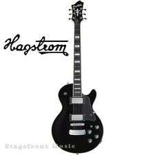 HAGSTROM HSSUSWEBLK SUPER SWEDE ELECTRIC GUITAR IN BLACK GLOSS. SWEDISH CLASSIC