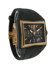 Breil BW0256 Men's Analog Rose Gold Tone Chronograph Date Black Resin Watch