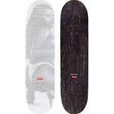 "SUPREME Digi Skateboard White 8"" box logo camp cap tnf lv S/S 17"