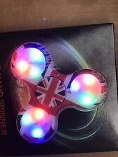 UK United Kingdom British Flag Light Up LED Fidget Spinner. US Seller, Fast Ship