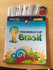 15 Brazil Panini World Cup Stickers 2014 Free Postage
