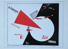 El Lissitzky Kunstdruck Soviet Poster Art Red's wedge Whites Death Vitebsk 1920