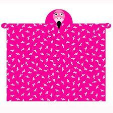 flamant rose à capuchon Couverture polaire doux avec manches & main mitaines