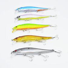 5pcs Lot Fishing Lures Wobblers Minnow Bait Beads Tackle 13.1g/11.5cm Crankbaits
