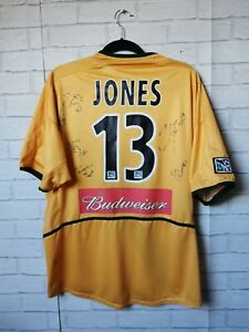 LA GALAXY 2004 HOME #13 COBI JONES PLAYER SIGNED NIKE FOOTBALL SHIRT ADULT XL