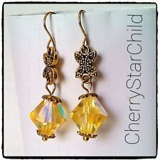 Crystal Yellow Gold Vintage & Antique Jewellery