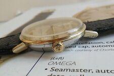14k Gold Bezel & S/S Vintage 1960's Men's Omega Seamaster Automatic Watch