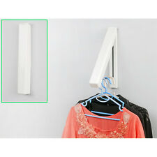 2 x Stainless Folding Wall Hanger Laundry Rack Mount Retractable Clothes New