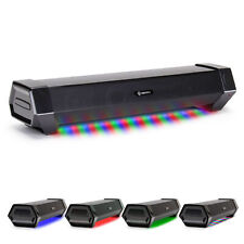 Gaming Speaker Soundbar - Under Monitor PC LED Speaker with 40W Peak Audio Power
