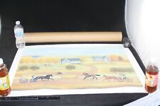 GENERAL STORE JUDITH BLINN LIMITED EDITION PRINT SIGNED 32X23 HORSE BUGGY AMHA