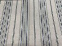 Glendale  Linen Indigo Blue Woven Stripe 140cm wide  Curtain/Upholstery Fabric