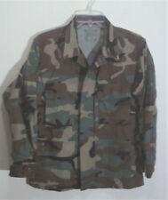 woodland camouflage combat coat - jacket size small - short