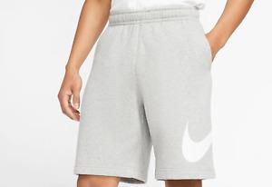 Nike Men's SPORTSWEAR Fleece Club Graphic Shorts Grey/White