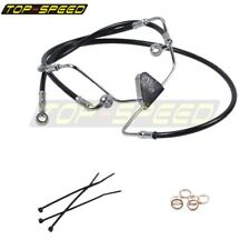 "NEW Black Front +4"" Brake Line Kit For 2008-2013 Harley Touring FLHT FLHR NO ABS"