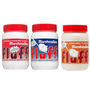 MARSHMALLOW FLUFF, CAREMAL FLUFF & STRAWBERRY FLUFF JARS 213g AMERICAN IMPORT