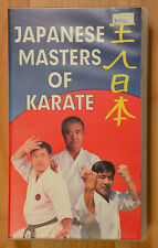 Japanese Masters of Karate demo and interview VHS - Great Show!