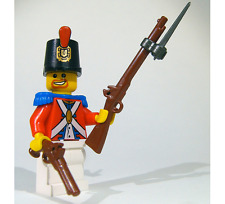 (5x) Brickarms Flintlock Musket with Detachable Bayonet for Lego Minifigures