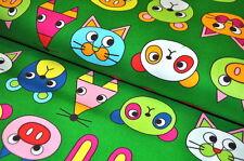TELA JAPÓN ANIMALES ANIMAL ZOO INFANTIL ARTDECO 0,5m BOLSILLOS DECORACIÓN