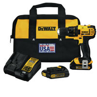 DEWALT 20V MAX Li-Ion 1/2 in. Compact Drill Driver Kit DCD780C2 Reconditioned