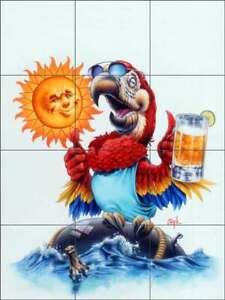 Parrot Tile Backsplash Bruce Eagle Club Art Ceramic Mural BEA002