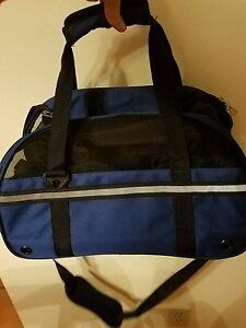 Pet Carrier Soft Sided Large Cat / Dog Comfort BLUE Travel Bag Airline Approved