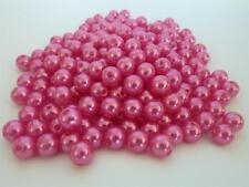 160 pce Pink Round Acrylic Imitation Pearl Beads 8mm Jewellery Making Craft