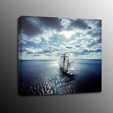 Canvas Prints Beach Sailboat Wall Art Home Room Decor Oil Painting Picture