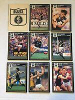 1987 CARLTON VFL / AFL Scanlens Cards...Team Set - 2 w/ UMMARKED CHECK LIST