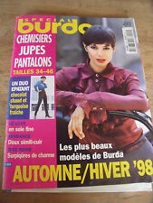 MAGAZINE BURDA SPECIAL JUPES PANTALONS CHEMISIERS LE LUXE TENDANCE E505 1998